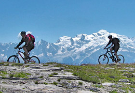 TransAlps Chamonix to Nice in mountainbiking