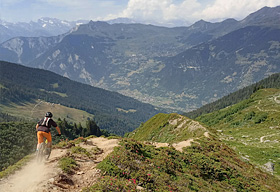 Enduro MTB in wallis delight